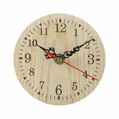 Silent Wall Clock non-ticking Quartz Wood Clock Perfect Round Craft for Bedroom