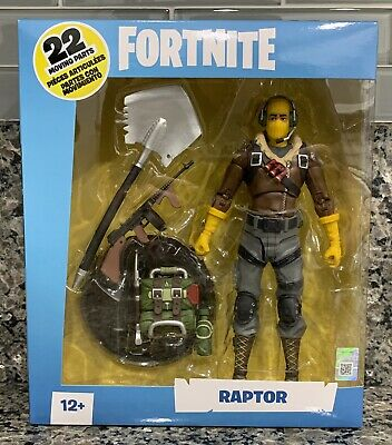 """New Mcfarlane Toys Epic Games Fortnite Raptor 7"""" Collectible Action Figure"""