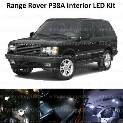 Premium Range Rover P38A 1994-2002 Interior White Led Upgrade Kit Bulbs Xenon