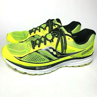 detailed look 347a8 9afd3 SAUCONY EVERUN GUIDE 10 Men's Size 12 Lime Black Athletic Running Shoes  S20350-3