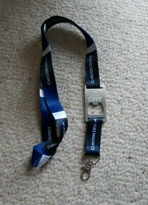 Carlton Dry Lanyard With Bottle Opener On It - New ,