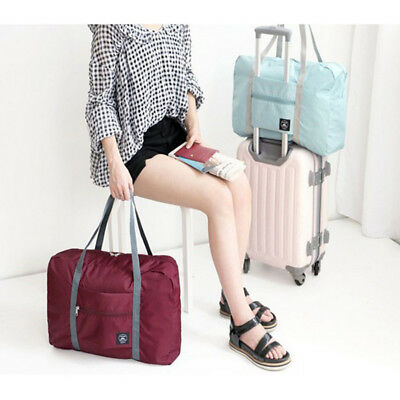 Portable Foldable Travel Storage Luggage Carry-on Shoulder Duffle Bag Tote US