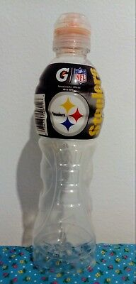 Gatorade Mexico NFL Pittsburgh Steelers Logo Empty Bottle 2018-2019 Mexican Edit