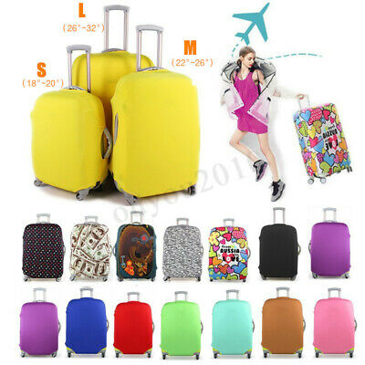 Durable Travel Luggage Cover Protector Elastic Suitcase Dustproof Pure Color New