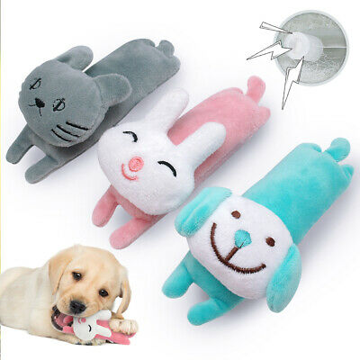 Pet Dog Puppy Squeaky Toy Play Sound Toys Soft Plush Chew Toy Dog Cat Rabbit