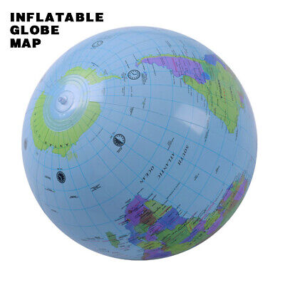 40cm Inflatable World Globe Earth Map Kids Teaching Geography Map Ball Toy