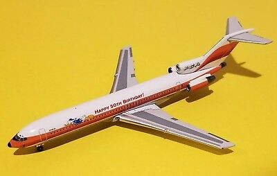 GEMINI JETS 1:400 PSA Pacific Southwest 727-200 Donald Duck 50th Birthday  N555PS