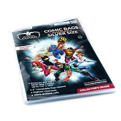 Ultimate Guard Comic Comic Bags - Silver, Resealable (100) MINT