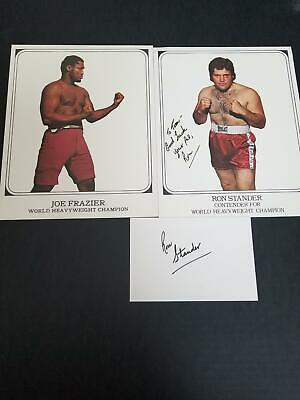Ron Stander Autograph Signed Index Card and Cardstock Photo
