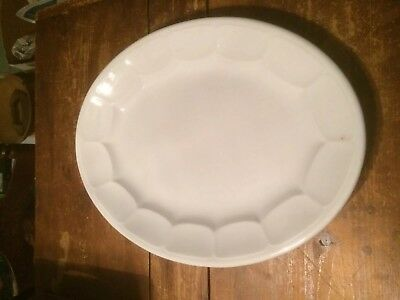 WHITE IRONSTONE  PLATTER JOHN ALCOCK IMPERIAL PARIS SHAPE 19th CENTURY 20 Inch