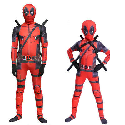 Masque combinaison d'adulte & Kid Deadpool cosplay costume déguisement