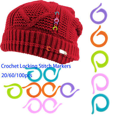 Latching Crochet Locking Stitch Markers knitting tool mark circle counting ring