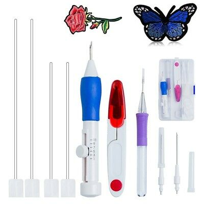 Magic Embroidery Pen Punch Needle Set Stitching Tool Craft Threaders Sewing DIY