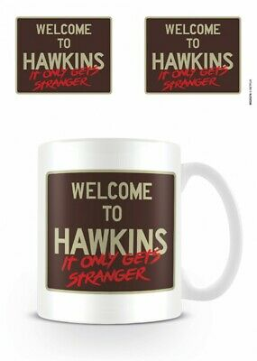 Stranger Things - Welcome To Hawkins Poster Foto-Tasse Becher (9x8cm) #120800