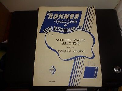 HOHNER PIANO ACCORDION Music - Scottish Waltz Selection