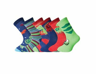6/12 Pairs Girls Boys Dinosaur Animal Character Cotton Socks Lot Childrens Kids