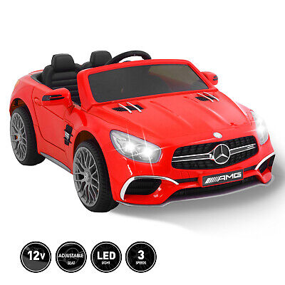 12V Kids Ride On Car Toy Double Seat Licensed Mercedes W/Remote MP3 & Light Red