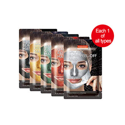 [PUREDERM] Galaxy Peel-Off Mask 10g*5ea (each 1 of all types)