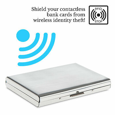 Metal RFID Blocking Wallet Slim Anti-Scan Contactless ID Credit Card Holder