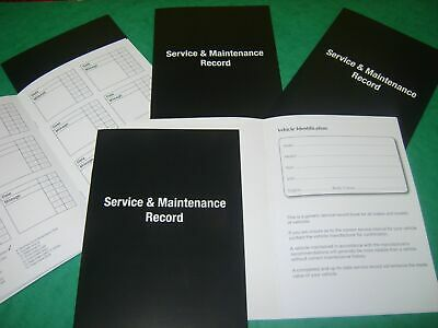 20 Service Books / Maintenance Repair Record Log Book For ALL Cars Manual Auto +