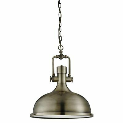 Searchlight INDUSTRIAL Pendent Light 1 LIGHT STYLE - BRASS, FROSTED GLASS 1322AB
