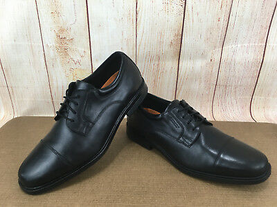 fecdfe72f140d7 Rockport Essential Details Cap Toe Black Men s Sz 10.5 Dress Shoes V73839  ...