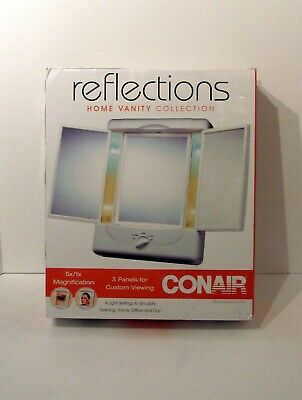Conair Tm7l Double Sided Lighted Makeup Mirror Mugeek