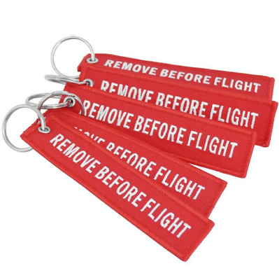 1pcsFashion Remove Before Flight Letters Embroidered Key Chain Bag Hanging Decor