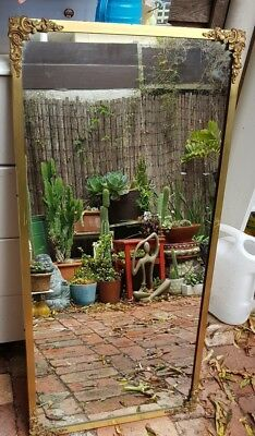 Brass mirror - vintage very solid and large