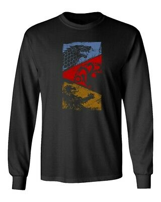 Game of Thrones Three Houses Men's Long Sleeve T-Shirt