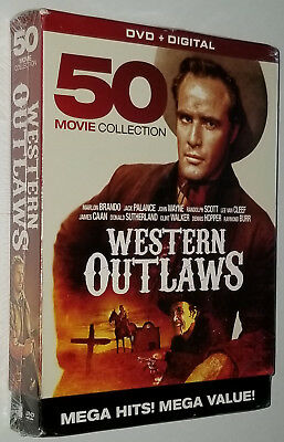 Oeste Outlaws 50 Película DVD Box Set Lee Van Cleef, Marlon Brando John Wayne