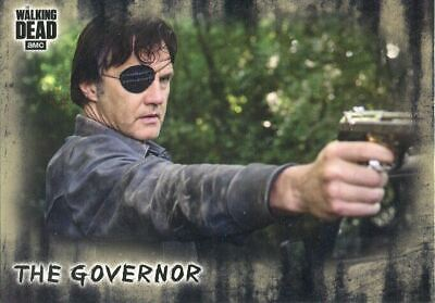 Walking Dead Hunters & Hunted Short Print Base Card #30 The Governor