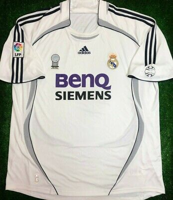 20f1888c2 REAL MADRID 2006 2007 HOME FOOTBALL SOCCER JERSEY SHIRT ADIDAS Size ...