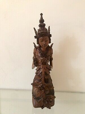 """Balinese Wood carving Fine Quality 16"""" 40cm Tall"""