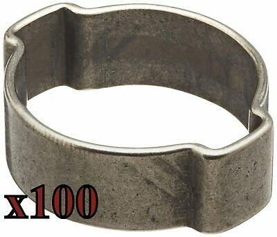 3134R 29-34mm Oetiker Double Ear Stainless Steel Hose Clamp 15100018 (100Pc.)