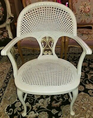 Fine Vintage Caned French Chair Carved Wood Frame White Parcel Ibusinesslaw Wood Chair Design Ideas Ibusinesslaworg
