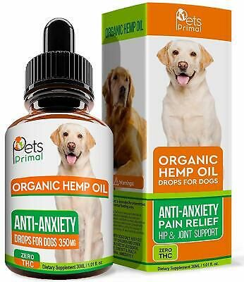 Pets Primal Hemp Oil Dogs - Hip & Joint Health, Pain Relief, 350mg, Organic
