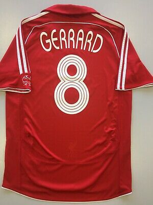 4849ee6f0 Gerrard 8. Liverpool Home football shirt 2006 - 2008. Size  M. Adidas