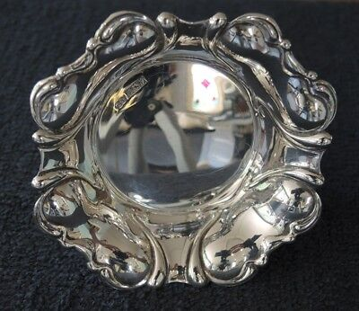 STERLING SILVER PIN / CANDY DISH HALLMARKED 1970 DEAKIN & FRANCIS 42 gms #10