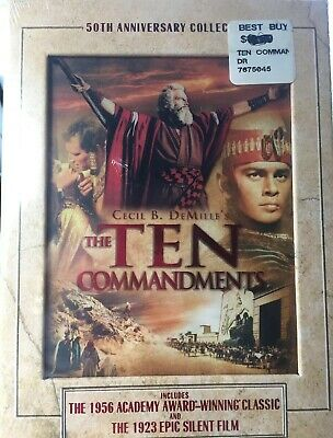 New Sealed The Ten Commandments 50th Anniversary Collection DVD, 2006 3-Disc Set