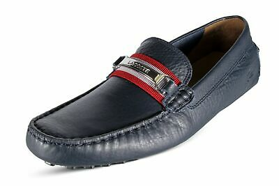 aa80a097dee Lacoste Ansted 119 1 U CMA Men s Driving Leather Moccasins Navy  7-37CMA0072144