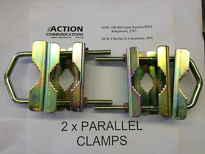 MB410 GME Parallel mounting clamps antenna bracket mast or Collinear UHF/CB/Base