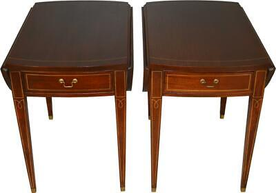 17619 Pair of Mahogany Pembroke Stands by Hickory Chair Company