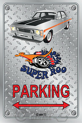 Parking Sign Metal - Ford XW GT 351 Super Roo - Quicksilver
