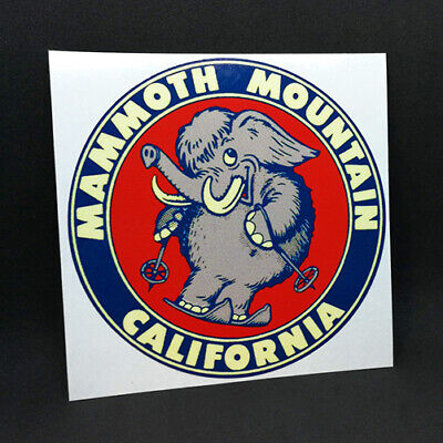 MAMMOTH MOUNTAIN Travel DECAL / Vintage Style Vinyl STICKER, California