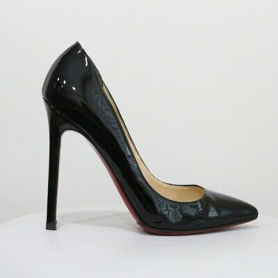 size 40 8e851 48e14 CHRISTIAN LOUBOUTIN PIGALLE 120 Black Patent Leather Pumps EU 36 US 6