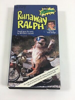 1991 FRED SAVAGE & RAY WALSTON - RUNAWAY RALPH VHS TAPE in SLEEVE ABC TV SPECIAL