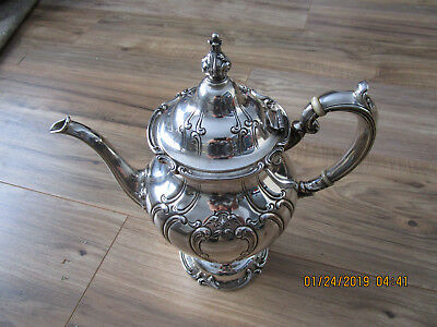 Antique Sterling Silver Coffee Pot~Gorham Chantilly Duchess~Beautiful !