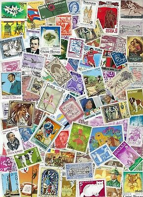 Worldwide - 100 Different  Stamps many MNH many Countries - B..........D 19 M 07