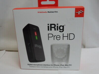 IK Multimedia iRig Pre HD Digital Microphone Interface for iPhone, iPad & Mac/PC